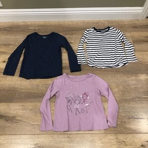 3 Toddler Girl's Long Sleeve Tops Size 5T